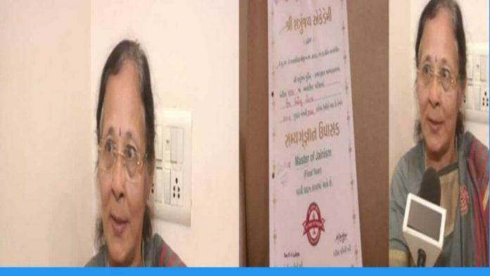 usha lodaya from gujrat got phd degree at the age of 67