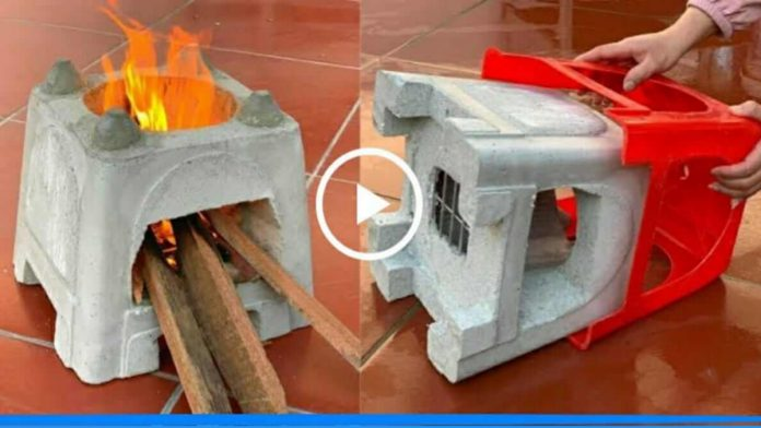 make attractive stove from plastic